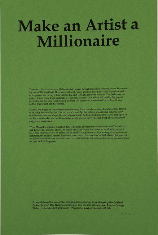 Make an Artist a Millionaire – Dan Nelson